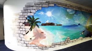3d mural signage and mural for downhole art misfits