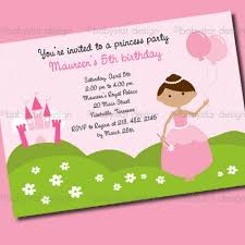 princess birthday party invitations template best template