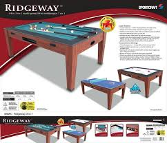triumph sports 3 in 1 rotating game table air hockey 3 in 1 game table table designs