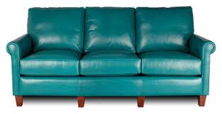 teal blue leather sofa custom leather sofa custom leather couch atlanta