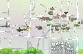 Map Of Bristol Tennessee by Downtown Bristol Vipseen Magazine