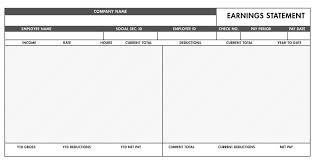 blank pay stubs template download blank pay stub templates excel