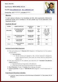 Format Of Job Resume by 12 Format Of Cv For Students Sendletters Info