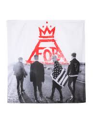 Standing Flag Banners Fall Out Boy Group Banner Topic