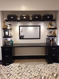 My DIY desk from a closet IKEA shelves desk and boxes Walmart