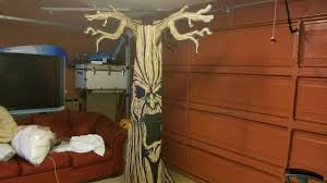 deady teddy spirit halloween 8ft haunted tree prop setup review youtube