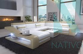design canapé canapé mirage ac éclairage led nativo mobilier design
