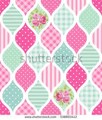 Shabby Chic Kitchen Wallpaper by Cute Seamless Vintage Pattern Patchwork Shabby Stock Vector