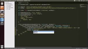 javascript tutorial demo azure demo getting started with azure documentdb on node js in