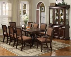 formal dining room curtain ideas black wood table chairs set brown