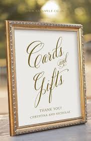 wedding gift table sign signs for wedding reception