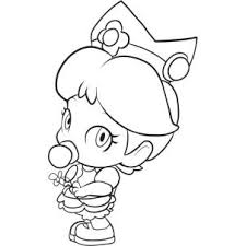 coloring pages of mario characters how to draw baby daisy step 5 jpg 302 302 mario et luigi