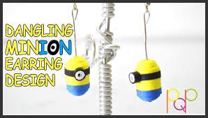 minion earrings dangling minion earring design basic pqp 013