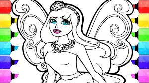 barbie coloring pages how to draw and color fairy barbie