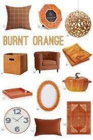 burnt orange home accessories