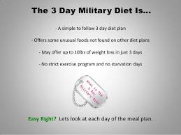 how to use the 3 day military diet