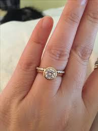 Engagement Ring With Wedding Band by Best 25 Bezel Set Engagement Rings Ideas On Pinterest Bezel