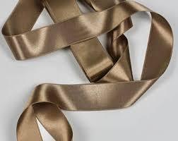 sided satin ribbon taupe satin ribbon etsy