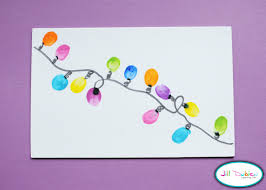 so cute may do this thumbprint christmas lights cool crafts