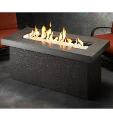 large fire pit table the outdoor greatroom company key largo crystal fire pit table with