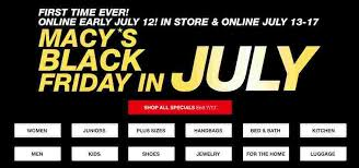 best black friday deals 2016 macy macy u0027s deal black friday in july sale southern savers