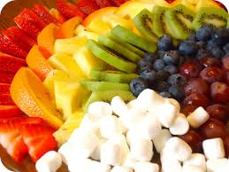 homemade serenity fruit rainbow with a