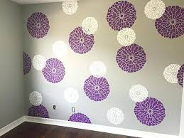 stencil decorating walls a stenciled nursery accent wall in purple