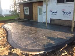 Backyard Concrete Patio Designs Backyard Concrete Colors Chart Cement Patio Ideas Modern