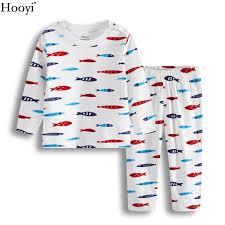 hooyi fish baby boys pajamas clothes set autumn sleeve
