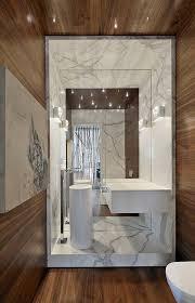 Modern Powder Room - modern powder room with corian counters u0026 powder room zillow