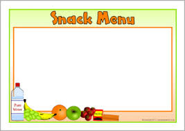 editable menu template editable snack menu templates landscape sb8615 sparklebox