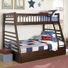 shop homelegance dreamland cherry twin over full bunk bed at lowes com