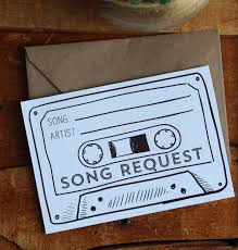 wedding song request cards instant cassette song request printable digital