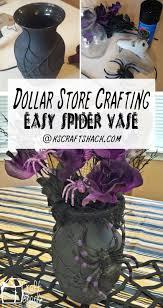 spider webs halloween decorations dollar store crafting spider halloween vase halloween dia de