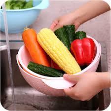 2 in 1 vegetables basin wash rice sieve fruit bowl fruit basket