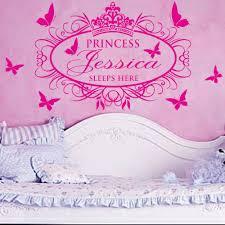 Vinyl Wall Stickers Custom Online Get Cheap Wall Decals Of Princess Sleeps Here Aliexpress