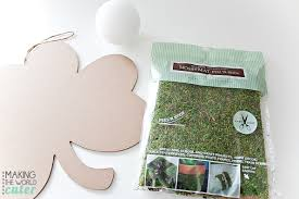 Shamrock Decorations Home Diy Shamrock With Moss And Decor Ball