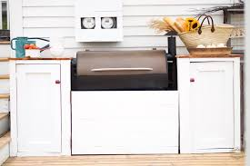 outdoor kitchen cabinet doors diy backyard bbq our outdoor kitchen vintage society co