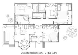 dining room floor plans architectural plan house professional layout furniture stock