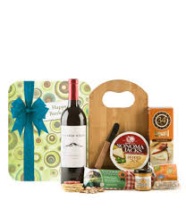 wine gift basket delivery happy birthday gourmet wine cheese board at from you flowers