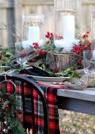 christmas red black plaid tablecloth christmas table settings