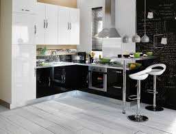 cuisine noir laqué pas cher meuble de cuisine noir pas cher idée de modèle de cuisine