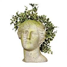 venus head planter transitional outdoor pots and planters by