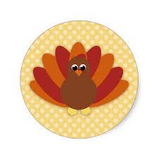 turkey stickers thanksgiving thanksgiving turkey classic sticker