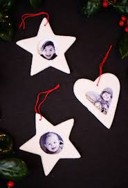 small friendly salt dough picture frame ornaments