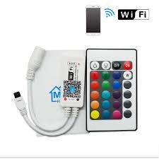 Remote Led Light Strips by Dc12v Rgb Rgbw Wifi Led Controller Android Ios Mini Ir 24key