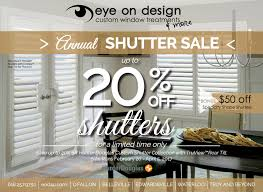 hunter douglas annual shutter sale u2013 up to 20 off eye on design