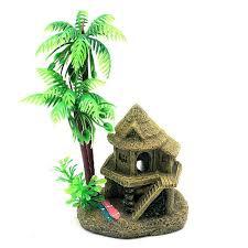 simulation resin coconut tree castle aquariums fish tank ornaments