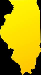 Illinois state design free clip art