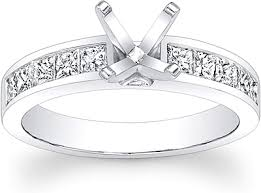 channel set engagement rings princess cut channel set engagement ring scs221pc